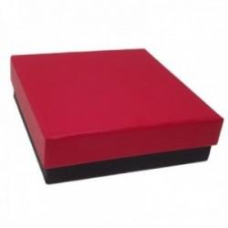 Pack 20 uds. Estuche joya caja cartón juegos sortijas pendientes gargantillas 84x84mm. espuma