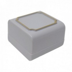 Pack 40 uds. Estuche joya caja plástico sortijas sellos 43x43mm. gris interior espuma