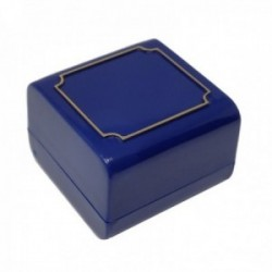 Pack 160 uds. Estuche joya caja plástico sortijas sellos 43x43mm. azul interior espuma