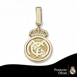 Colgante escudo Real Madrid oro de ley 18k 16mm. [6442]