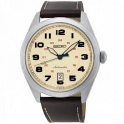 Reloj Seiko hombre SRPC87K1 Neo Sports automático acero inoxidable piel marrón