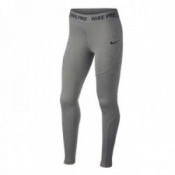 Nike Pro Mallas Largas Niña Gris Jaspeado