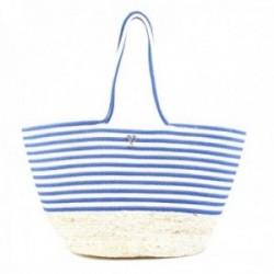 Capazo playa Lola Casademunt bolso rayas bicolor azul