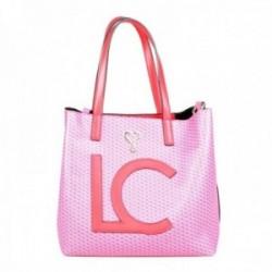 Bolso Lola Casademunt rosa shopper monogram