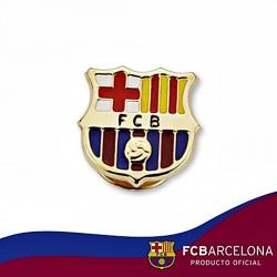 Pin escudo F.C. Barcelona oro de ley 18k 16mm. esmalte [6510]