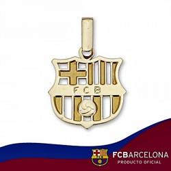 Colgante escudo F.C. Barcelona oro de ley 18k mediano calado [6515]