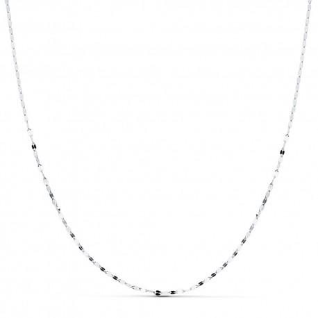 Cadena oro blanco 18k maciza 45 cm. 1.2 mm. 0.95 grs. [9536]