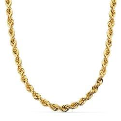 Cordón cadena oro 18k salomónico 50cm. ligero 5.5mm. [AA1576]
