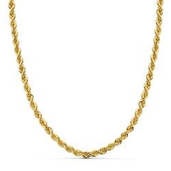 Cordón cadena oro 18k salomónico 45cm. normal 4mm. [AA1581]