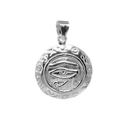 Colgante plata Ley 925m Ojo de Horus 21 mm. amuleto simbólico egipcio protección perseverancia
