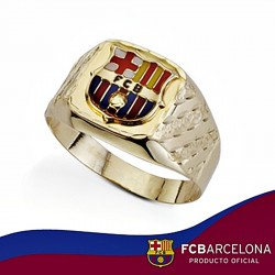 Sello escudo F.C. Barcelona oro de ley 18k tallado hueco [6523]