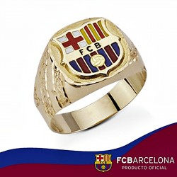 Sello escudo F.C. Barcelona oro de ley 18k tallado hueco [6524]