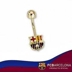 Piercing escudo F.C. Barcelona oro de ley 18k 8mm. ombligo [6525]