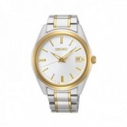 Reloj Seiko hombre SUR312P1 Neo Classic Correa acero bicolor. Bisel dorado.