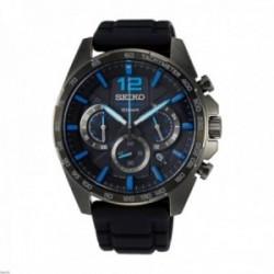 Reloj Seiko Hombre SSB353P1 Neo Sports Cuarzo Crono Ip Acero Inoxidable Negro Taquímetro