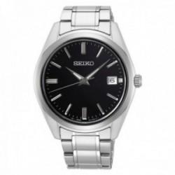 Reloj Seiko Hombre SUR311P1 Neo Classic Acero Inoxidable Esfera Negra