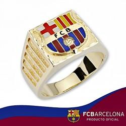 Sello escudo F.C. Barcelona oro de ley 18k caballero cartier [6528]