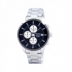 Reloj Seiko Hombre SKS545P1 Neo Sports Cuarzo Crono Negro Acero Inoxidable