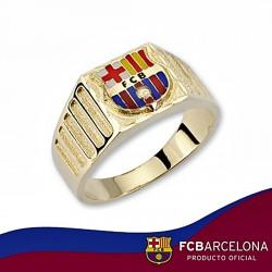Sello escudo F.C. Barcelona oro de ley 18k cadete cartier [6529]
