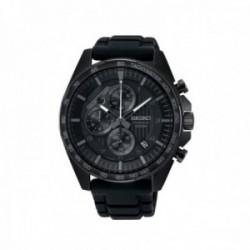 Reloj Seiko Hombre SSB327P1 Neo Sports Cuarzo Crono Ip Negro Pulsera Caucho