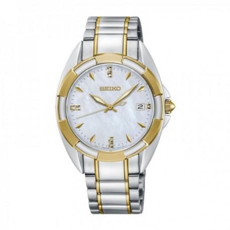 Reloj Seiko Mujer SKK886P1 Ladies 7 Diamantes Acero Inoxidable Bicolor