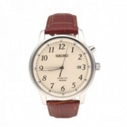 Reloj Seiko Hombre SKA779P1 Neo Classic Kinetic Crema Visualización De Fecha Pulsera Piel
