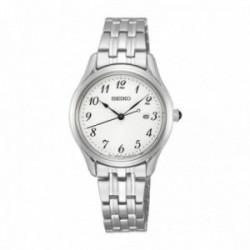 Reloj Seiko Mujer SUR643P1 Neo Classic Tres Agujas Negras Acero Inoxidable