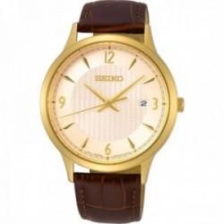 Reloj Seiko Hombre SGEH86P1 Neo Classic Pulsera De Piel Tres Agujas Doradas Pulsera Piel