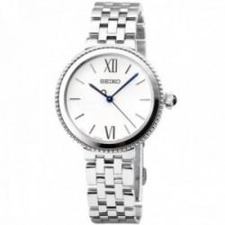 Reloj Seiko Mujer SRZ507P1 Ladies Bisel Estriado Números Romanos Acero Inoxidable