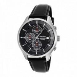 Reloj Seiko Hombre SKS539P2 Neo Sports Cronógrafo Pulsera De Piel Negra Visualización Fecha
