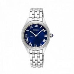 Reloj Seiko Hombre SUR329P1 Ladies Acero Inoxidable Números Romanos Esfera Azul
