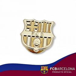 Pin escudo F.C. Barcelona oro de ley 9k 16mm. liso [6535]