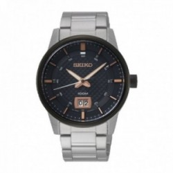 Reloj Seiko Hombre SUR285P1 Neo Sports Acero Inoxidable Visualización Fecha Ventana Doble