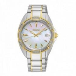 Reloj Seiko Mujer SKK880P1 Ladies Caja Diamantes Y Esfera De Madreperla Acero Inoxidable Bicolor
