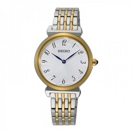 Reloj Seiko Mujer SFQ800P1 Ladies Acero Inoxidable Bicolor Bisel Dorado