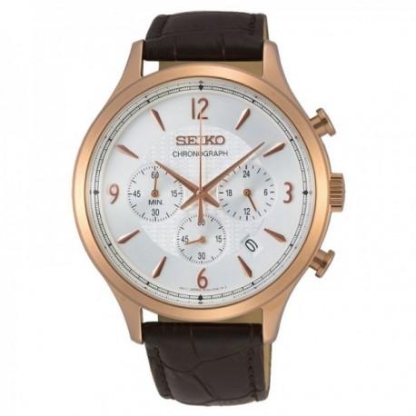 Reloj Seiko Hombre SSB342P1 Neo Classic Pulsera Piel Cronógrafo Hasta 60 Min