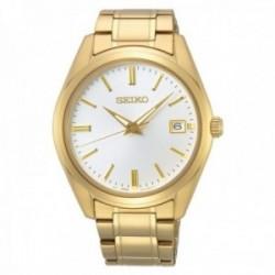 Reloj Seiko Hombre SUR314P1 Neo Classic Acero Inoxidable Dorado Visualización Fecha
