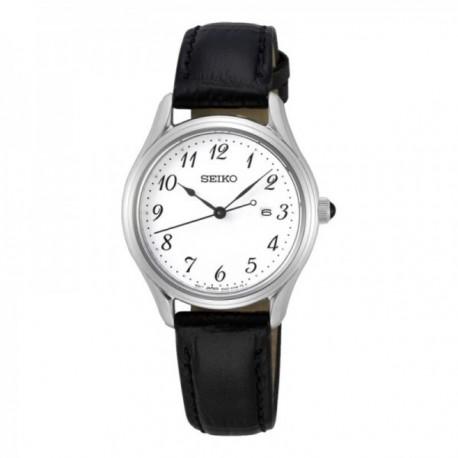 Reloj Seiko Mujer SUR639P1 Neo Classic Pulsera De Piel Visualización Fecha