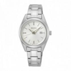 Reloj Seiko Mujer SUR633P1 Neo Classic Acero Inoxidable Visualización Fecha Lumibrite