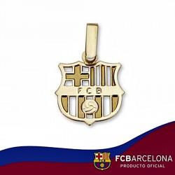 Colgante escudo F.C. Barcelona oro de ley 9k pequeño calado [6541]
