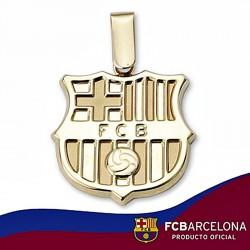 Colgante escudo F.C. Barcelona oro de ley 9k 20mm. liso [6549]
