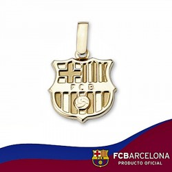 Colgante escudo F.C. Barcelona oro de ley 9k 14mm. liso [6551]