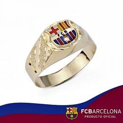 Sello escudo F.C. Barcelona oro de ley 9k hueco pequeño [6554]