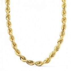 Cordón cadena oro 18k salomónico 60cm. ligero 8 mm. mosquetón