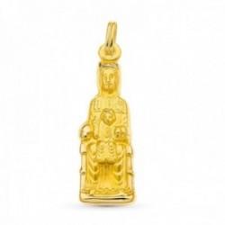 Colgante medalla oro 18k Montserrat 34 mm. silueta