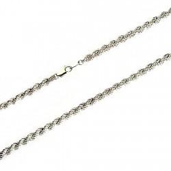 Cordón cadena plata 925m salomónico 6mm. 55cm. [2137]