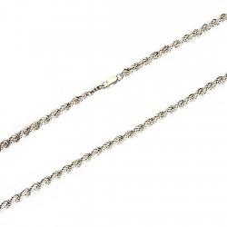Cordón cadena plata 925m salomónico 5mm. 55cm. [2138]
