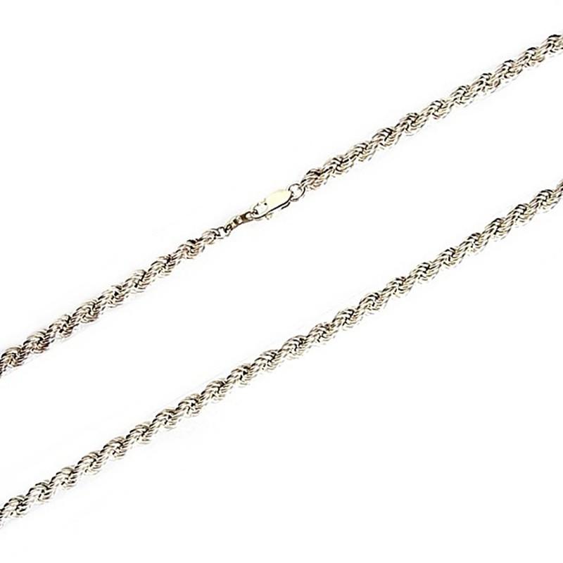 venta caliente auténtica venta caliente bienes de conveniencia Cordón cadena plata 925m salomónico 5mm. 55cm. [2138]