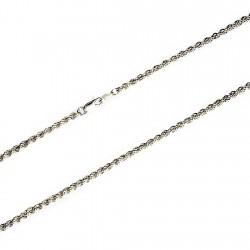 Cordón cadena plata 925m salomónico 5mm. 55cm. [5980]