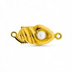 Fornitura oro 18k mujer broche collar para 1 vuelta perla liso detalles